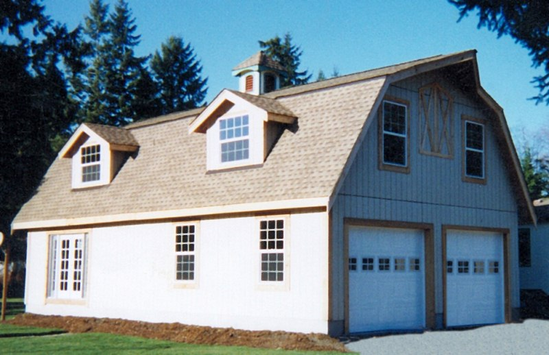 Gambrel Barn Kit With Garage Apartment